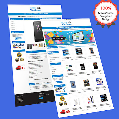 Mobile Responsive Ebay Store Design & Auction Listing Template HTTPS Secur 2018