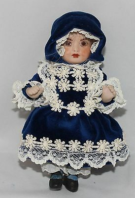 Vintage All Porcelain / Bisque Doll with Jointed Arms and Legs