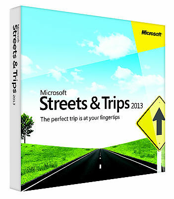 Microsoft 2013 Streets & and Trips North American Maps x32/64 Bit DVD