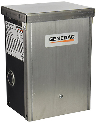 Generac 6375 15-Amp 125-Volt Single-Circuit Outdoor Manual Transfer Switch for M