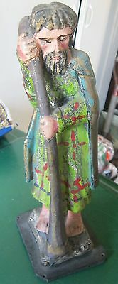 Original Naivecarved Wood Santo Polichromed Hand Painted Primitive Piece