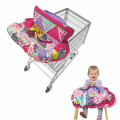 Shopping Cart Seat Cover High Chair Baby Infant Toddler Safety Compact Pink
