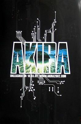AKIRA Unleashed rare original 2002 UK promo POSTER new !!