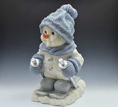 "Enesco Snow Buddies 18"" Snowman Buddy Skiing Collectors Limited Release"