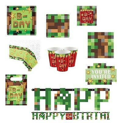 TNT Party Minecraft Inspired Videogame Birthday Supplies Tableware Decorations