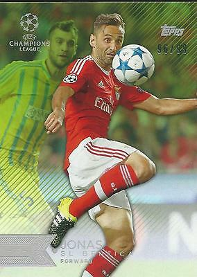 2015-16 Topps Uefa Champions League Showcase Benfica Jonas 96/99 Parallel