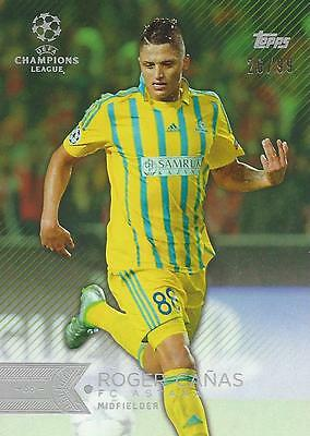 2015-16 Topps Uefa Champions League Showcase Roger Canas 26/99 Parallel