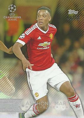 2015-16 Topps Uefa Champions League Showcase Martial 40/50 Red Parallel