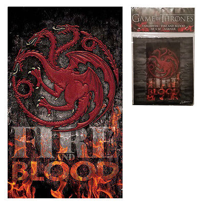 Game of Thrones Fire is Blood Banner features the House Targaryen Crest 30'x50'