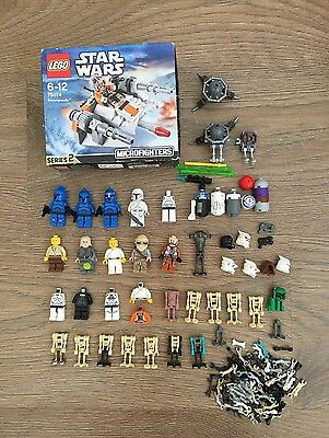 Lego Star Wars Minifigures Bundle Jedi Commando Clone Trooper Droid 75074 Parts