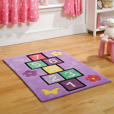 Small Non Shed Modern Thick Soft Wool Polyester Kids Children Play Rug