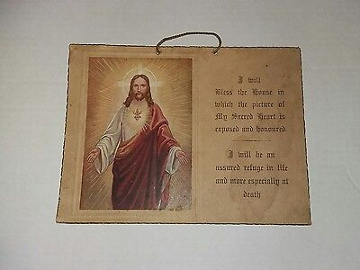 Vintage Religious Wall Hanging ( I Will Bless The House )
