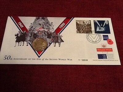 Royal Mint 1995 VE Day End Of WWII 50th Anniversary £2 Coin Cover