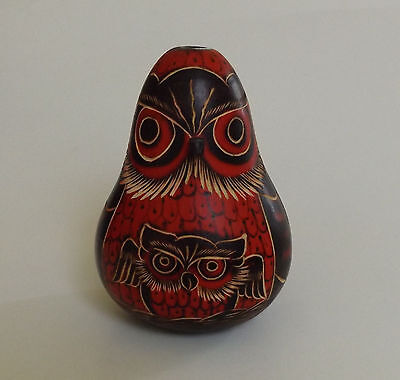 Owl Bird With Baby Made in Peru New 3 1/2 In. Tall