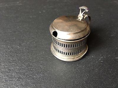 Antique Solid Sterling Silver Miniature Small Mustard Condiment Cruet Pot Mini