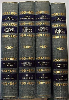 Civil War books LEE'S LIEUTENANTS by DOUGLAS SOUTHALL FREEMAN, Arlington Edition