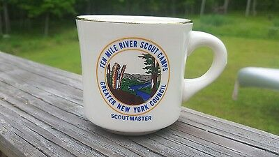 Vintage Boy Scouts Coffee Cup  - Ten Mile River - 1970's New York  Scoutmaster