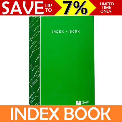 Quill Index Book Ruled Paper 128x182 A5 Hard Cover 160pg A-Z 18012