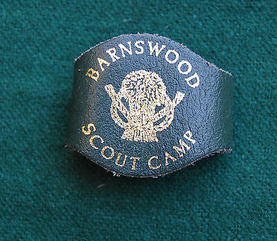 Barnswood Scout Camp Woggle - Vintage - Leather - Boy Scouts, Cheshire, UK