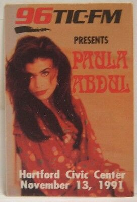 Paula Abdul - Original Concert Tour Cloth Backstage Pass
