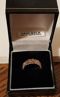 10k Gold Trinity Knot Band Ring, Size 6