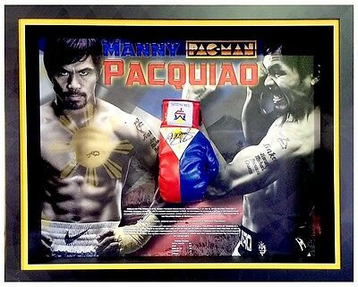 Manny Pacquiao Signed Filipino Flag Boxing Glove