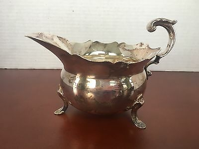 Fisher Silverplate Holloware Jack Shepard Footed Gravy/Sauce Bowl