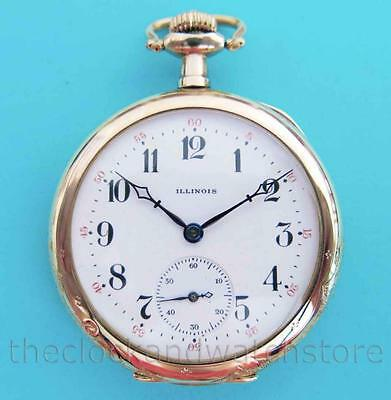 Antique Illinois 12S 21J Grade 274 Pocket Watch In Gorgeous Gold Filled Case
