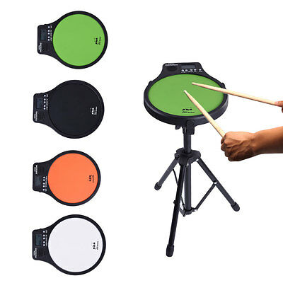 Percussion Digital Electric Drummer Training Practice Drum Pad Metronome Counter