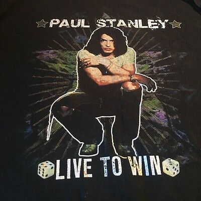 KISS Paul Stanley solo Live to Win Tour T-shirt 2006-2007, Large, NEW, Rare
