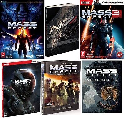 Mass Effect 1, 2, 3 & Andromeda Complete Official Guides and Art PDF Ebook DVD