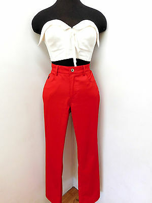 Vtg 90s Lipstick Cherry Summer Red Hot GUESS Jeans Pants Nautical Tight M 6 8