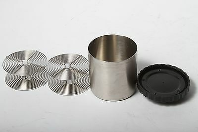 Stainless Steel FILM DEVELOPING Canister TANK w/ Two 35 mm REELS Used VINTAGE!