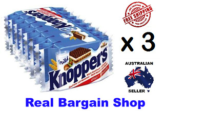KNOPPERS 3x 8 Packs 24 Biscuits MADE IN GERMANY *AUSSIE SELLER*