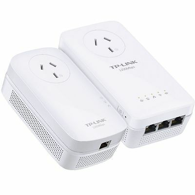 TP-Link TL-WPA8630P KIT AV1200 Wireless PowerLine Network Range Extender Adapter