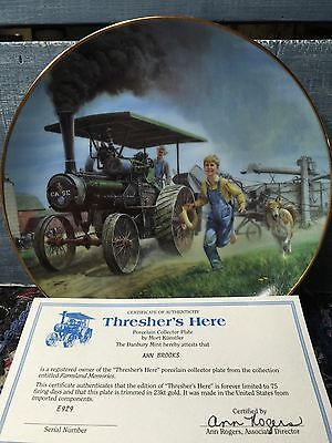 """""""Thresher's Here"""" The Danbury Mint Collector Plate By Mort Kunstler"""