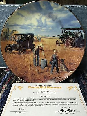 """""""Bountiful Harvest"""" The Danbury Mint Collector Plate By Emmett Kaye"""