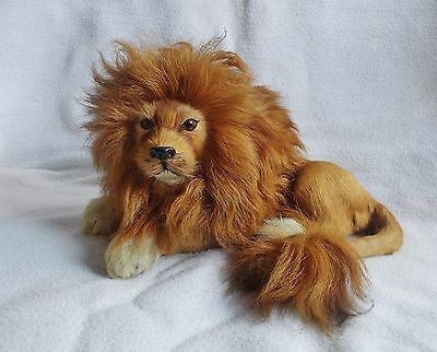 Antique Vintage Hand Made Taxidermy Miniature Lion w/ Real Hide