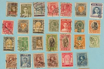 49 Early Stamps Siam / Thailand See 2 Scans Below
