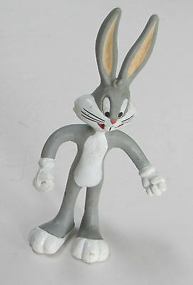 "1990 Warner Brothers Bugs Bunny bendable 5"" toy cake topper excellent condition"