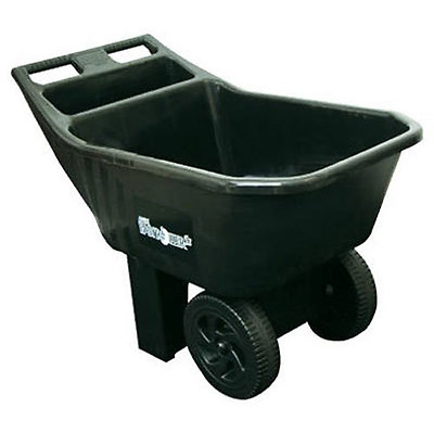 Ames 2463675 3-Cubic Foot Poly Easy Roller Junior Yard Cart - Black