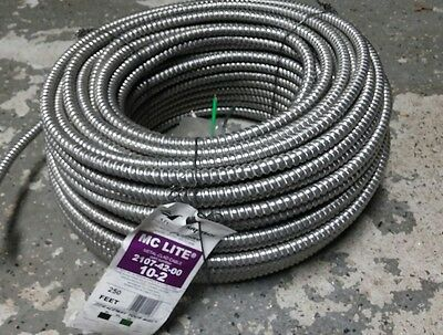 10/2 MC with Ground - 250 ft coil. Copper Electrical wire 600v