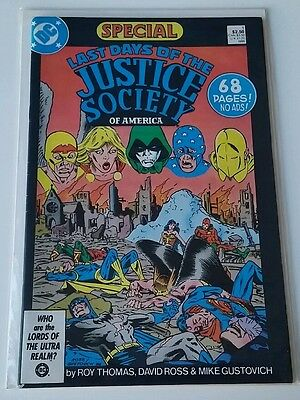 America vs The Justice Society #1-4 NM &  #1 Last Days of the Justice Society NM