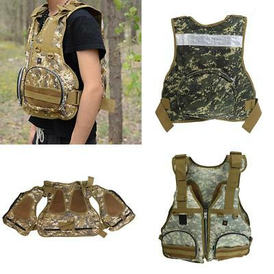 Camo Outdoor Quick Dry Fishing Vest Multi Pockets Photography Hiking Jacket Vest