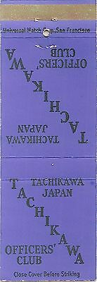 Tachikawa, Japan - Officers' Club - Front Strike Matchbook Cover Matchcover