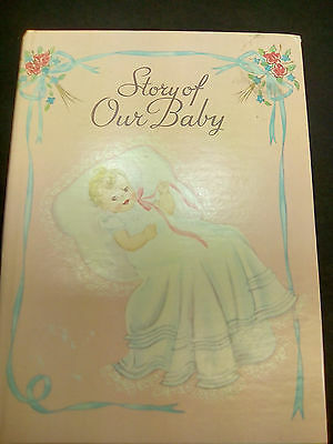 Vintage Unused Baby Book Story of Our Baby Record Book