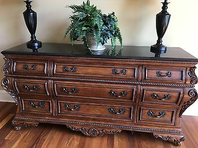 Antique Dresser Cabinet-Walnut Color