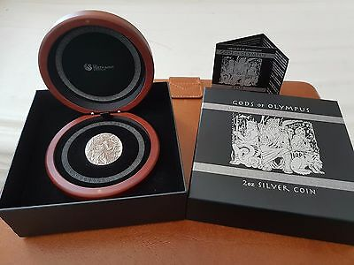 2 OZ Perth Mint 2014 Silver gods of Olympus Zeus, high relief coin, 1500 mintage