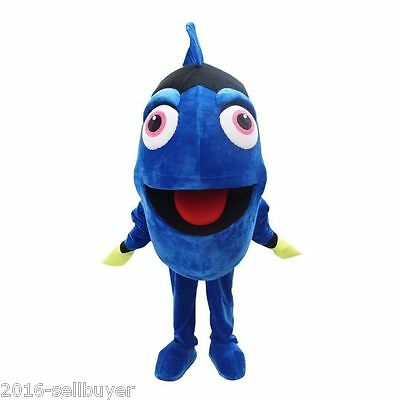 Blue Fish Mascot Costume From Finding Nemo Fancy Dress Adult