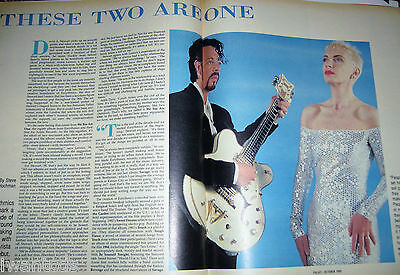 Eurythmics LARGE Ad Annie Lennox David Stewart We Too Are One Cher 80's